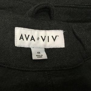 fcd295cb747 Ava   Viv Sweaters - AVA   VIV Women s Sweatshirt Size 4X Black Ebony